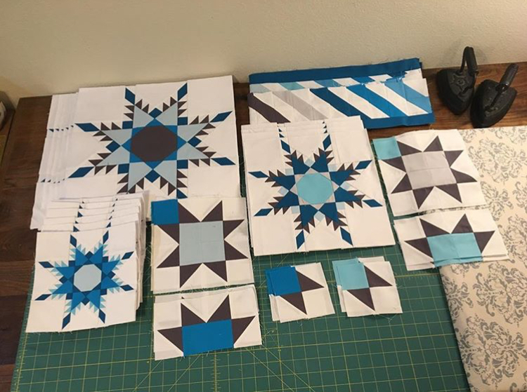 Stacy (@sgarrett0871)  has all her Blizzard blocks neatly lined up and ready for action!
