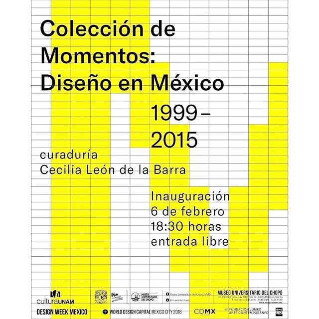"""Estamos felices de anunciar que E/J forma parte de la exposición """"Colección de momentos: Diseño en México, 1999-2015"""", presentada en el Museo Universitario del Chopo y curada por @cecilialbv . — Esta muestra plantea posicionar la producción de diseño industrial mexicano de las últimas décadas como un conjunto coherente de objetos que dan testimonio de las innovaciones y tendencias del periodo. — * en colaboración con @designweekmex y @wdccdmx2018 *"""