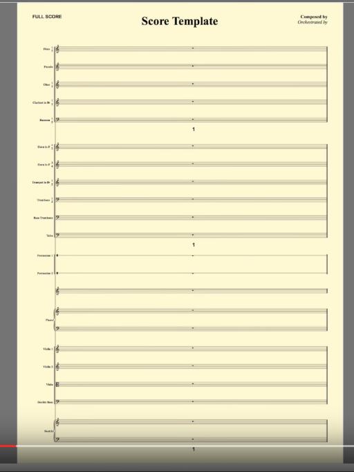 Blank template score