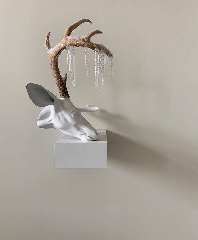 On site. Art selection. #ErickSwenson #contemporaryart #contemporarysculpture #joshuaricedesign