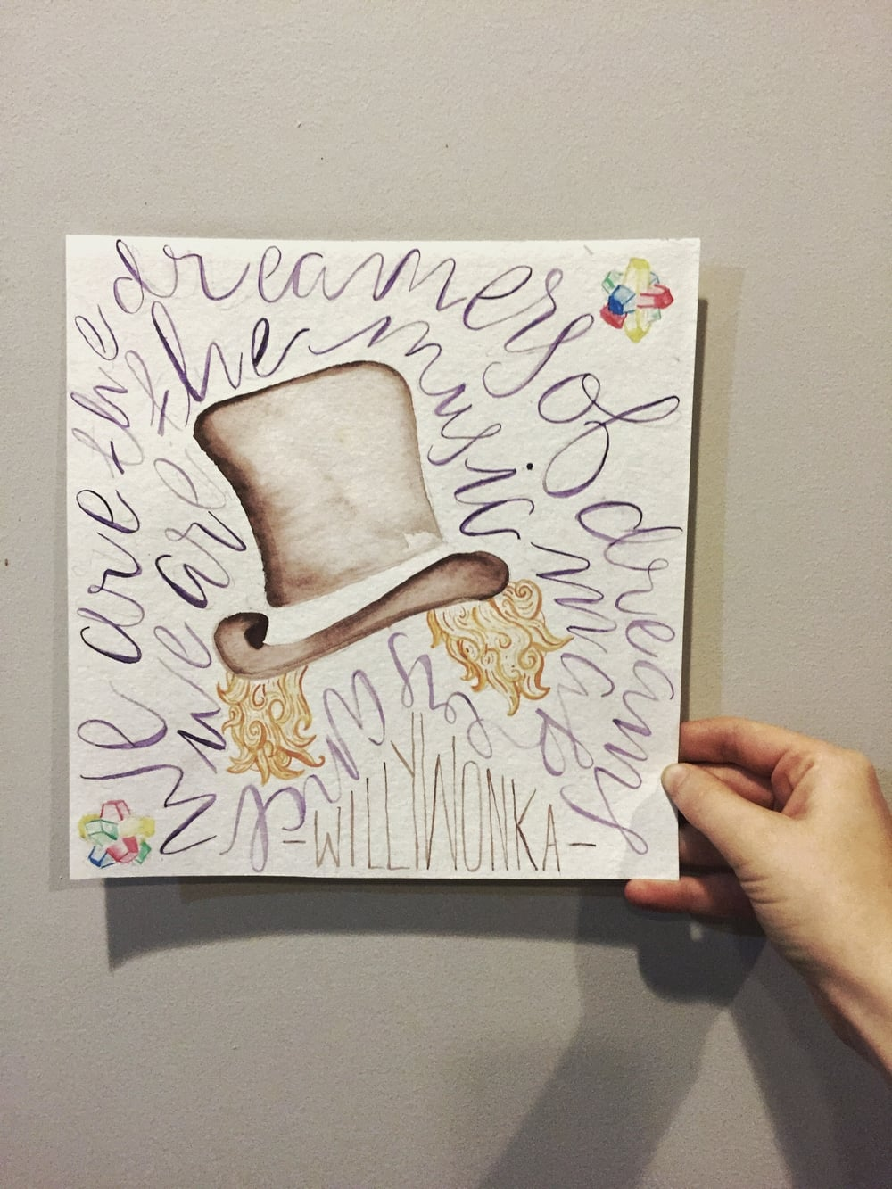 Willy Wonka Quote Watercolor