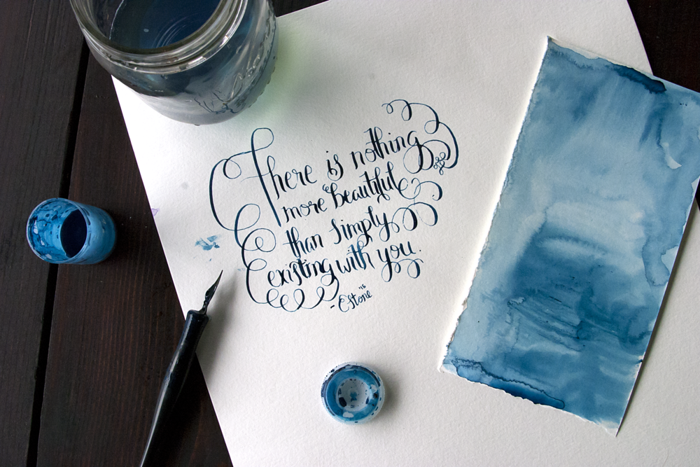 Watercolor typography quote