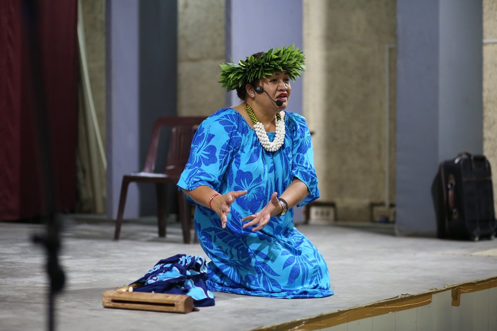 Tuaratini - storyteller and Project Manager at the Pacifica Arts Centre