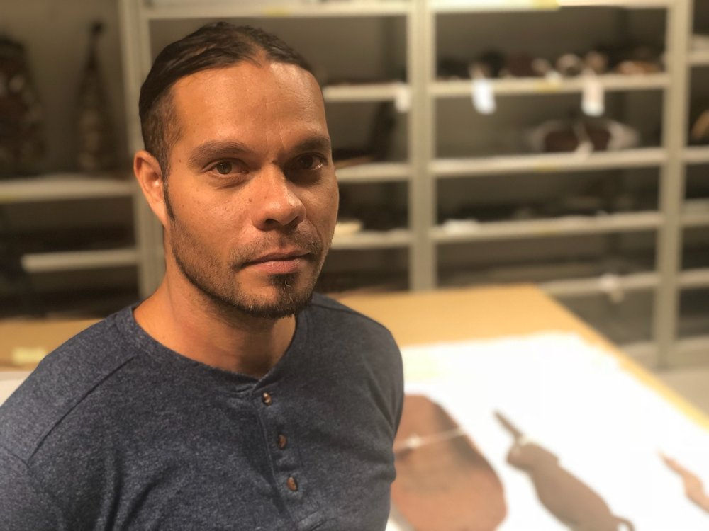Shaun Angeles Penangke - Artwe-kenhe (Men's) Collection Researcher at the Strehlow Research Centre, Museum and Art Gallery of the Northern Territory