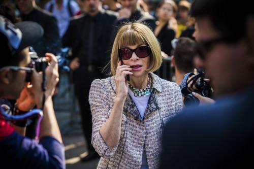 Anna Wintour @ Milan Fashion Week. NBD.