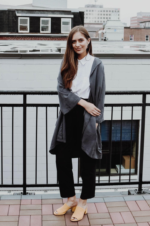 Shirt 1.5 in White -  Study NY /Oversized Blazer -  CassBurr Designs /PALCO Pant -  Odeyalo