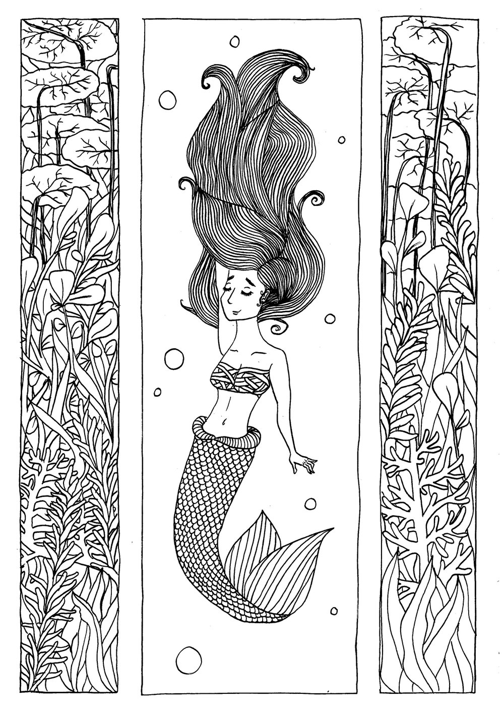 Mermay 2017 line work using fine liners