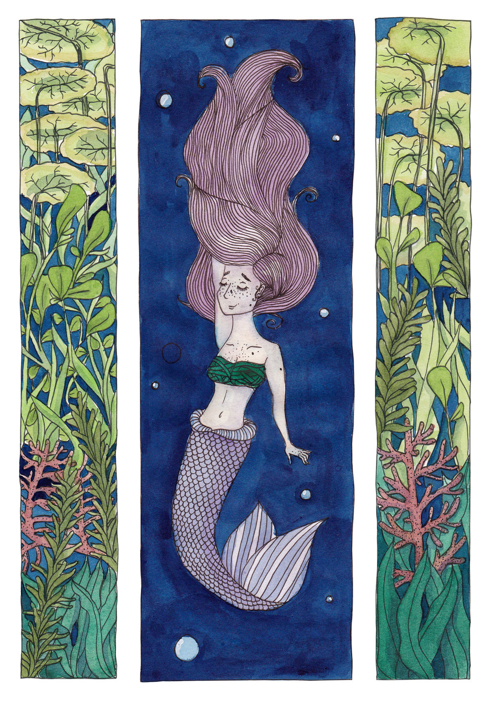 Mermay 2017 in colour using gouache and watercolours