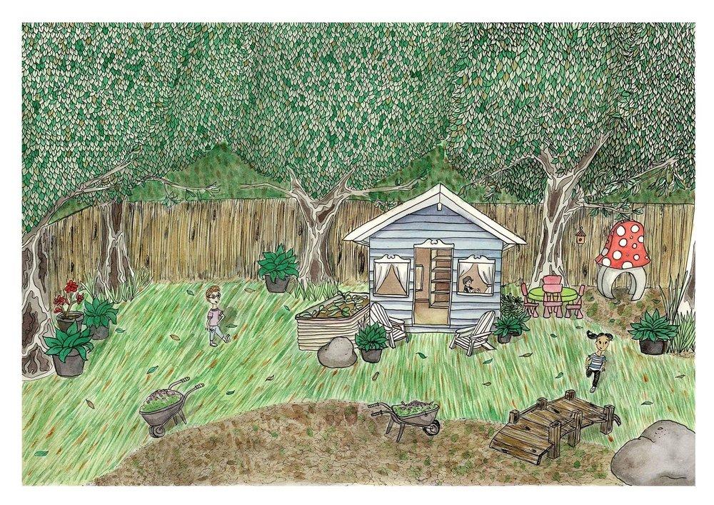 Illustration based on Altona Kindergarten's play area.