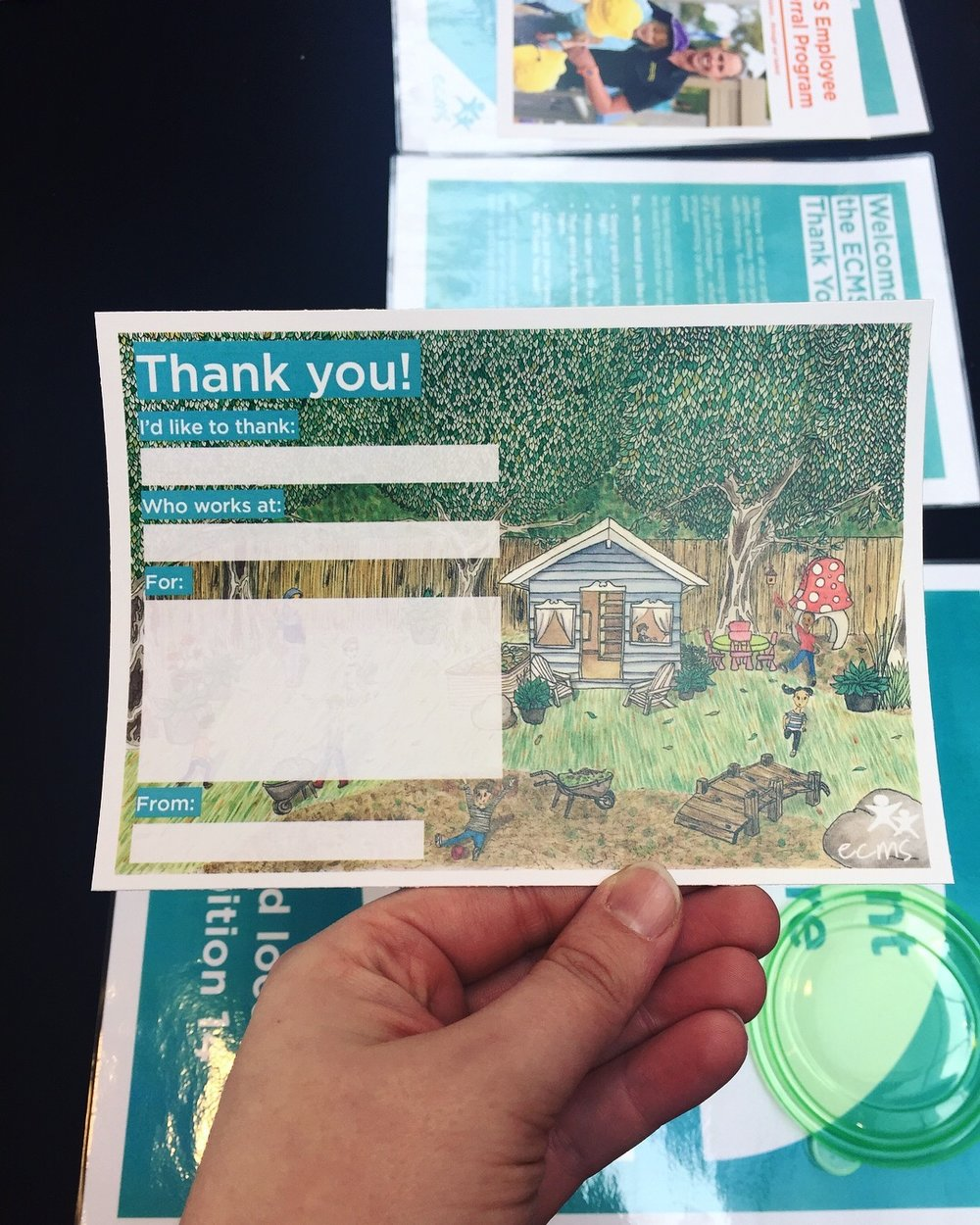 ECMS Thank You Cards for the 2017 Beyond Tomorrow Conference