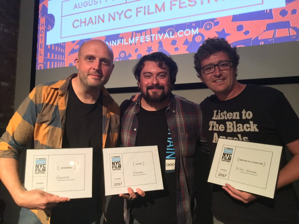 'Wilderness' director Justin, Chain NYC Festival Director Kirk Grotowski and me.