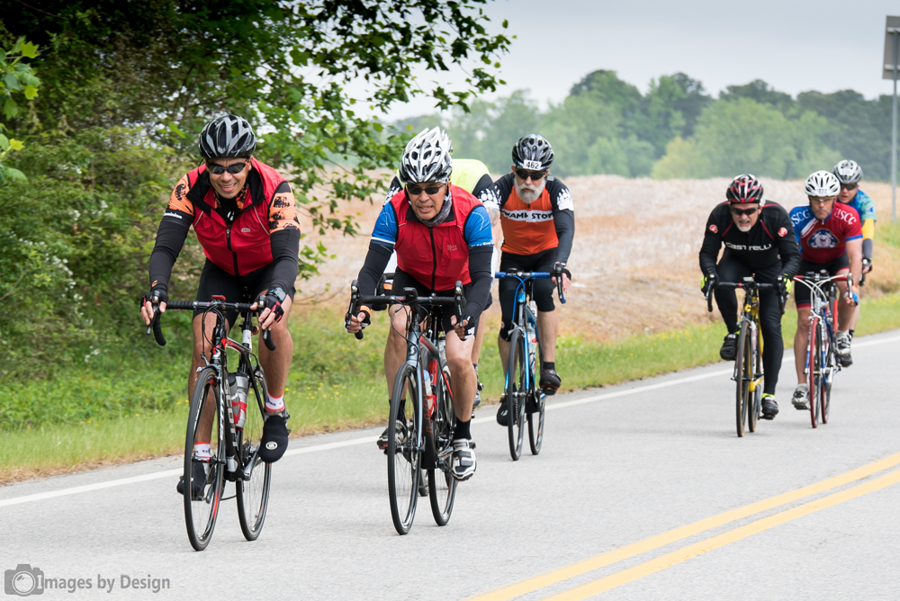 Fast riders along the 100 mile course - Tour du Cure Hampton Roads 2016