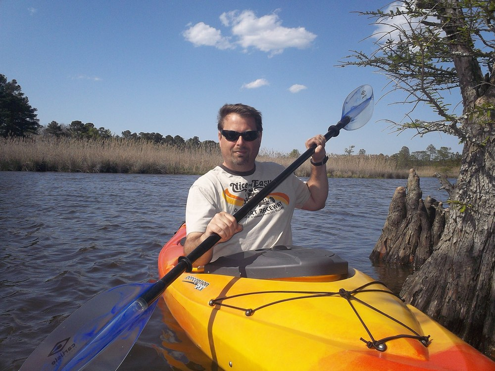 Jim Paddling Back Bay's North Landing River - Photo by Ryan Setzer