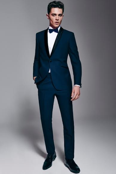 44ad8c83959 The dinner suit or Tuxedo has changed very little since its arrival in the  mid-nineteenth century, a fitted jacket with slit pockets, one-button  fastening ...