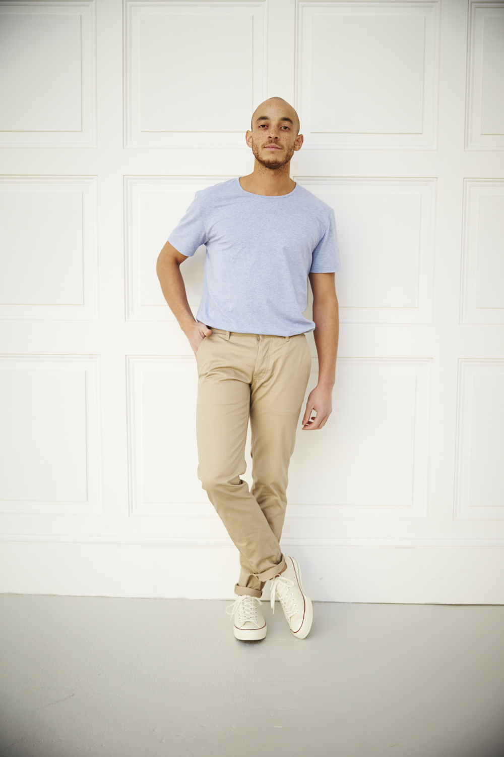 akka selvedge stretch cotton chino