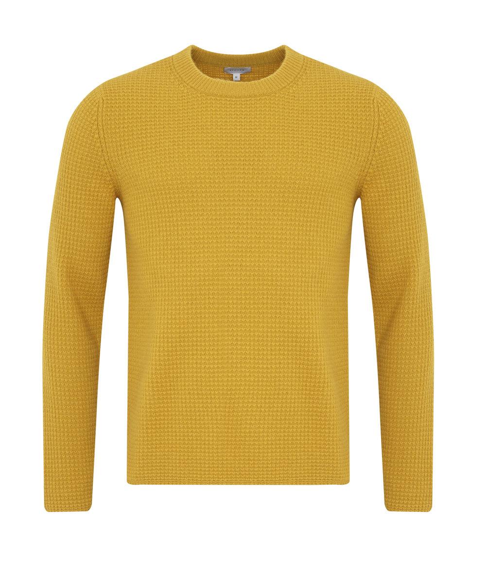 2. Jigsaw  Wool cashmere waffle crew neck, amber, £125.jpg