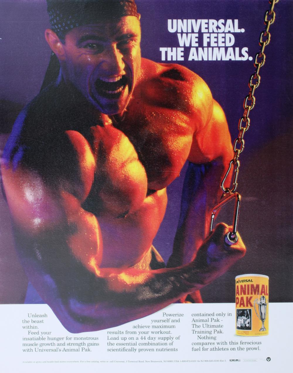 musclehead magazine print ad