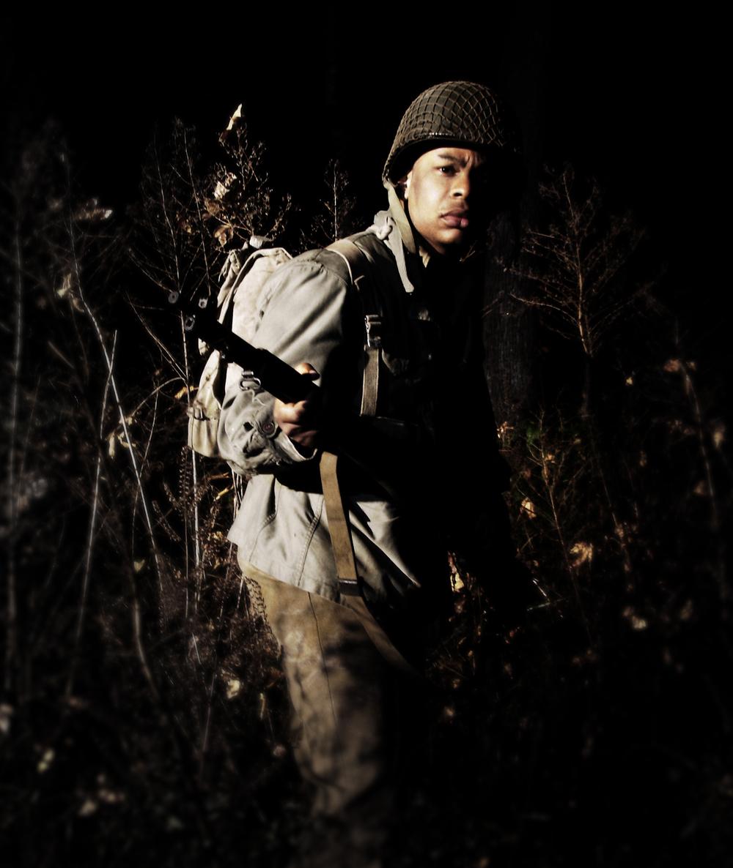 WWII Soldier Reenactor