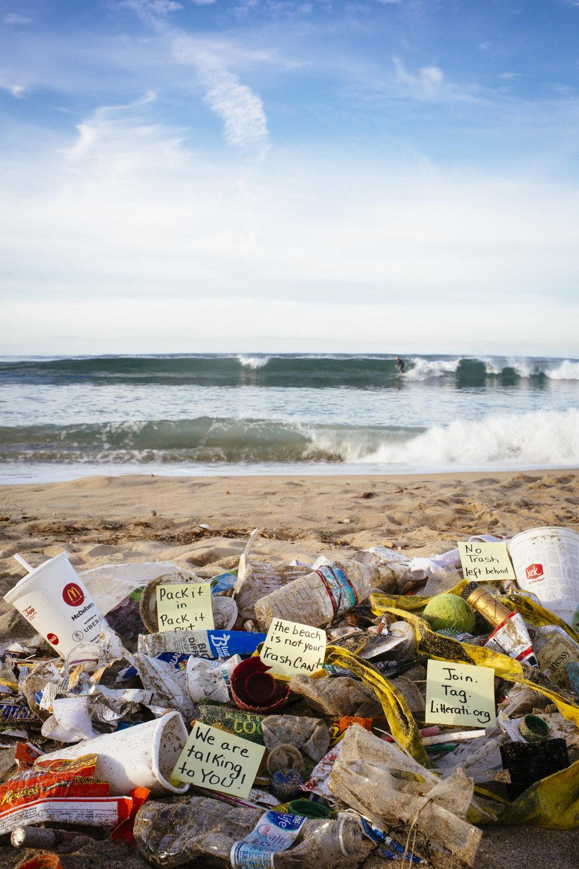 Huntington Beach... Pick up your Trash!