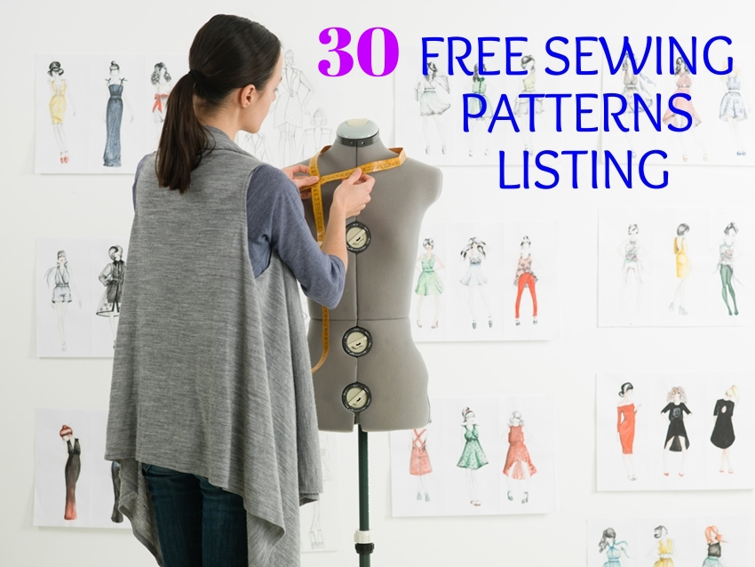 30 free sewing patterns on The Patterns Pages