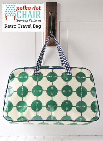Polkadot Chair Retro travel bag