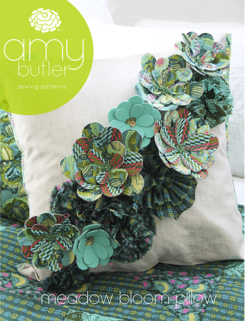 Amy Butler's meadown bloom pillow PDf sewing pattern