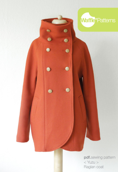 Yuzu Raglan Coat from Waffle Patterns