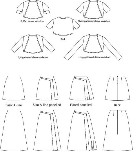 Tahi sewing pattern variations