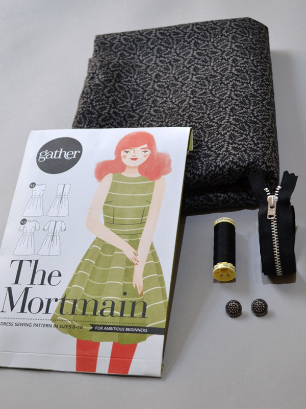 The Mortmain Dress kit from Gather