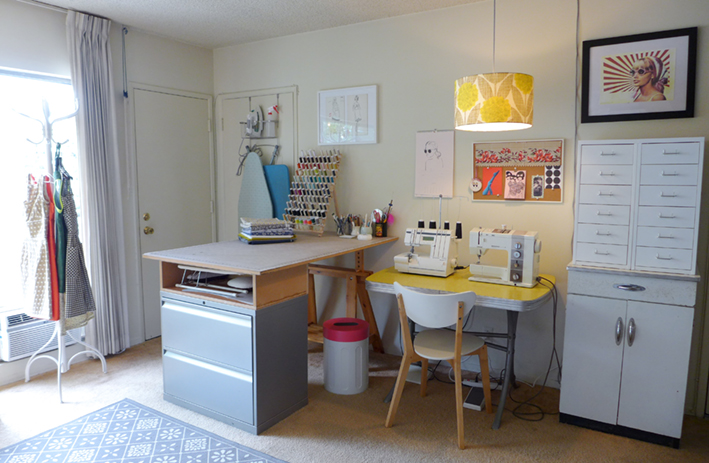 Sneak peak at Christine's very tidy sewing studio!