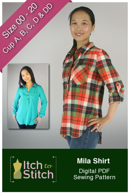 Mila Shirt from Itch to Stitch