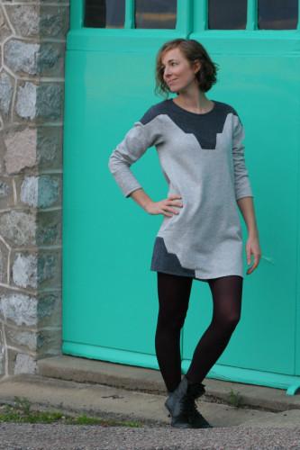 Zircon Dress/Sweater sewing pattern from Paprika Pattern