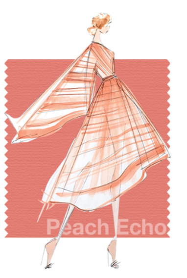 Peach Echo - Pantone colour for spring 2016