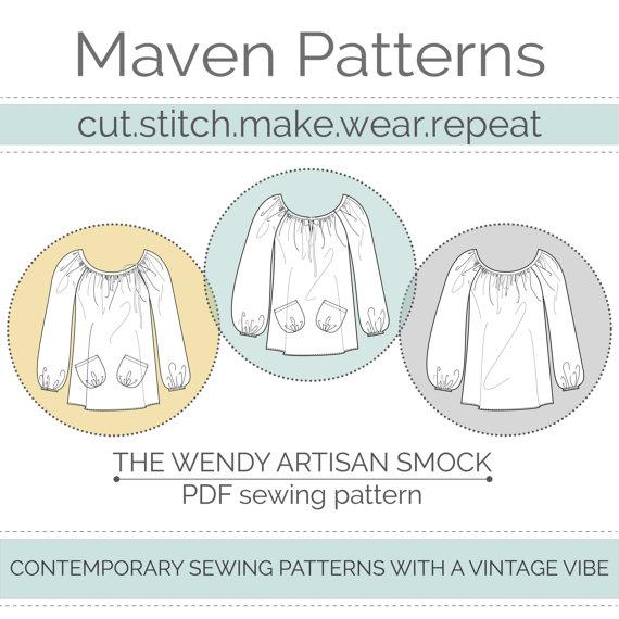 The Wendy Artisan Smock pattern