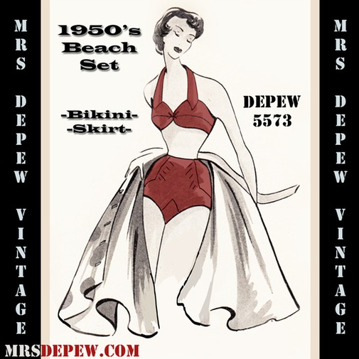 Mrs Depew 50s beach set