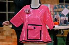 Joyce winning raincoat