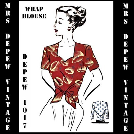 Mrs Depew 1940's wrap blouse