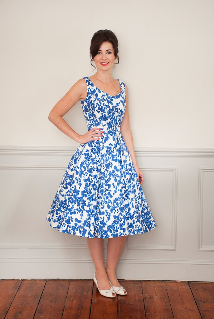 THE ELSIE DRESS - SEW OVER IT    Checkout the beautiful 'grown up party dress' from Sew Over It. Featuring a V-neckline, princess seams, invisible zip and a fully lined and faced bodice.