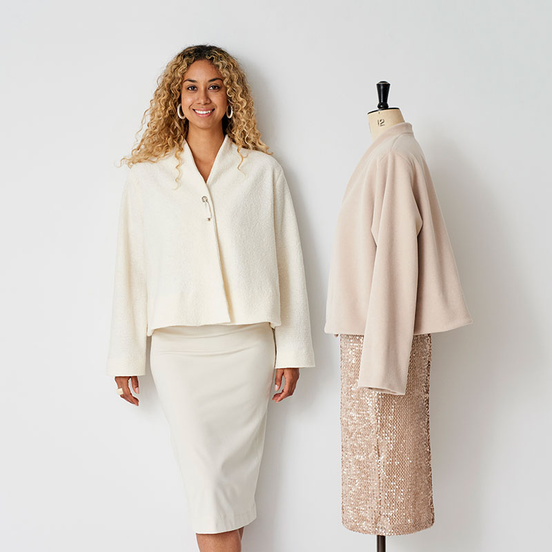 swing jacketthe makers atelier  - Fabulous - This pattern is simply chic. The flared, unlined jacket is perfect for wearing over dresses this winter. Looking for that simplistic jacket that goes with everything? look no further... The pattern is designed to be made with medium weight coating fabric such as wool, cashmere flannel, melton and boiled wools.
