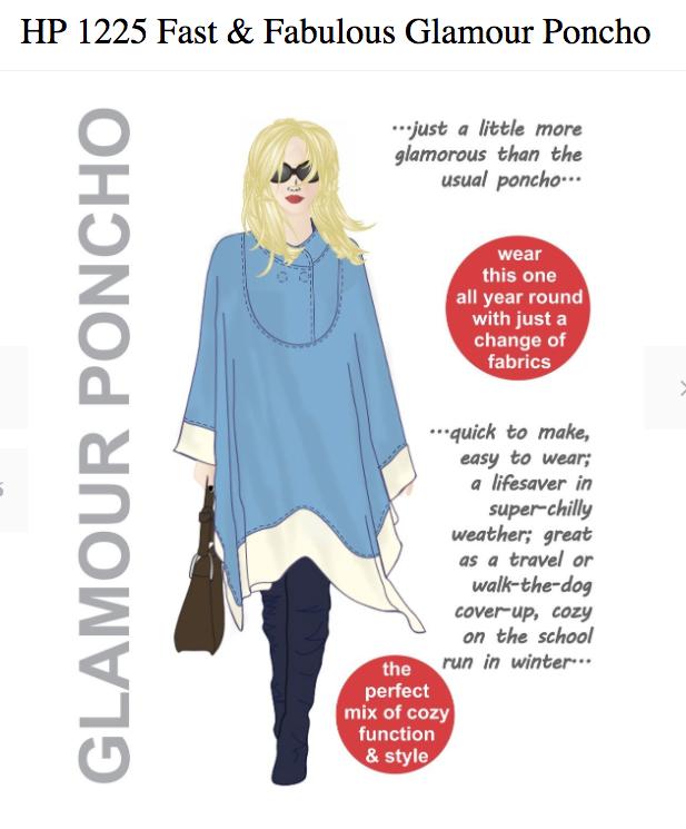 Glamour poncho - Hot Patterns