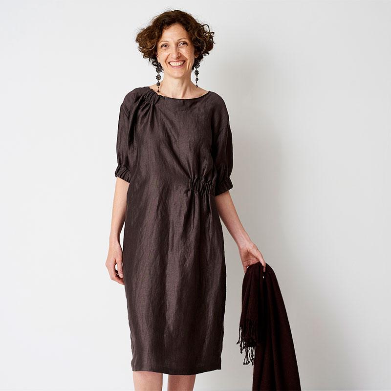 AsymmetricalGather dress - The Maker's Ateilier