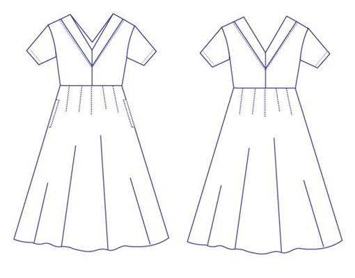 Roma dress sewing pattern from DG Patterns