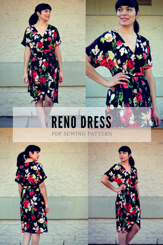 Reno wrap dress from DG patterns