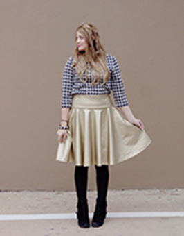 Pleather circle skirt See Kate Sew