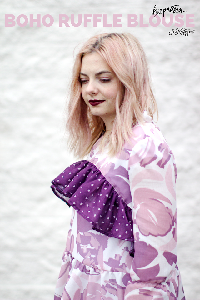 Boho ruffle blouse See Kate Sew
