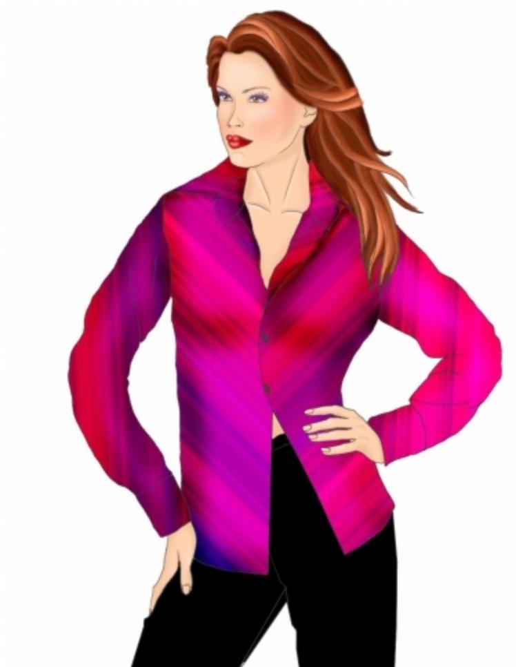 #5446 Classic blouse Lekala