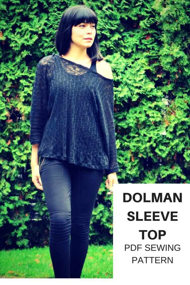 Dolman sleeve top On the Cutting Floor