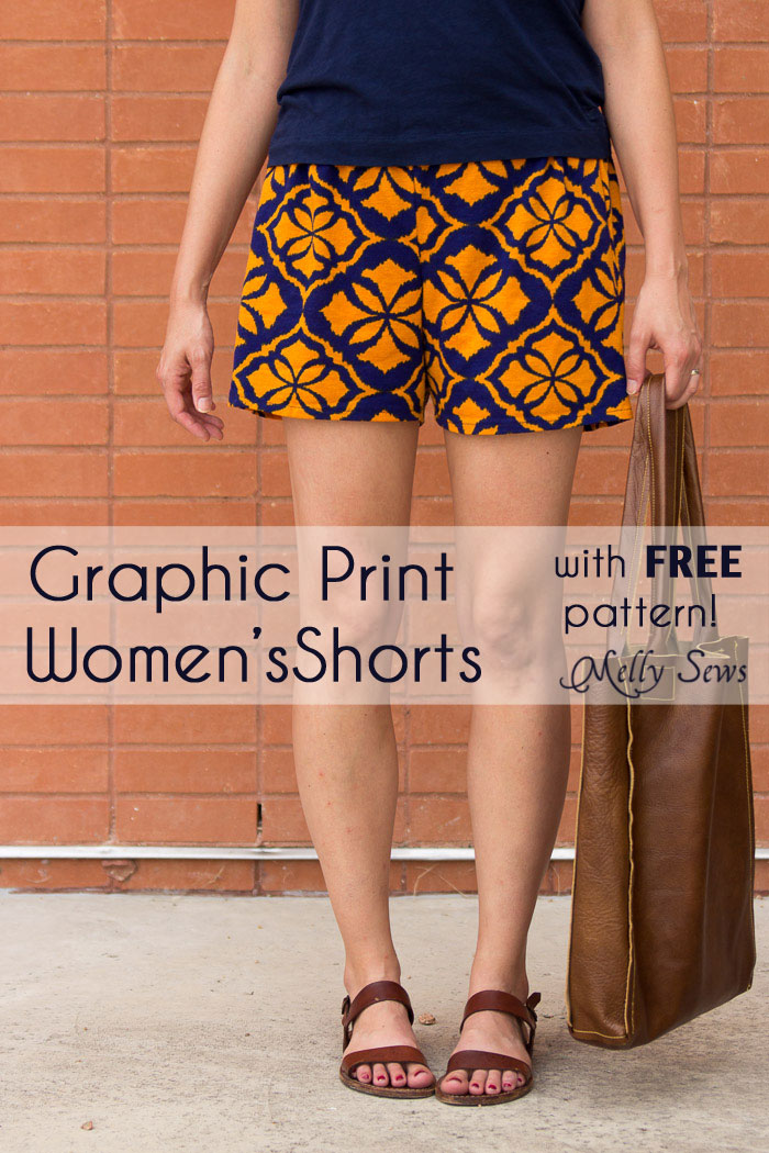 Graphic shorts Melly Sews
