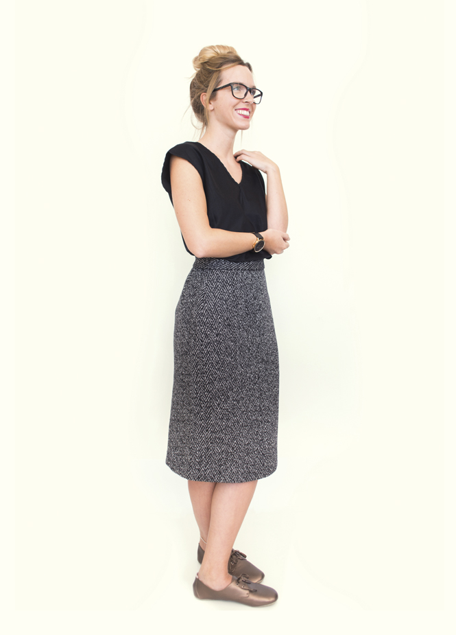 Wool pencil skirt Peppermint magazine