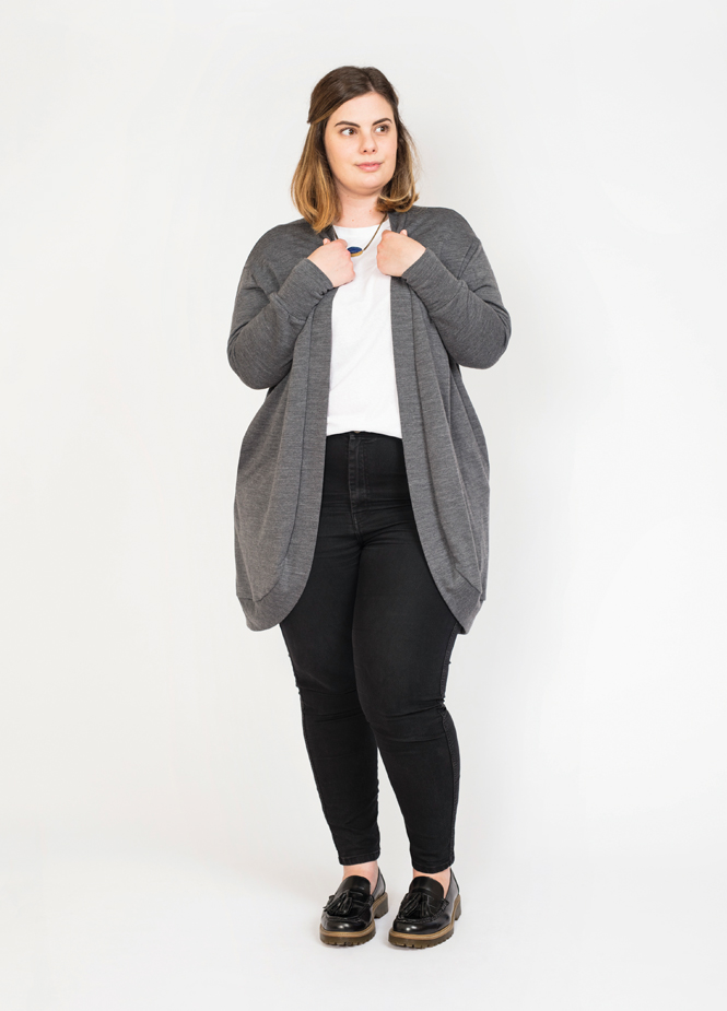 Slouchy cardi In the Folds & Peppermint magazine